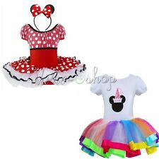 Halloween Kids Girls Minnie Mouse Costume Cosplay Party Princess Dancewear Dress