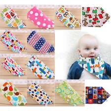 1pcs Baby Boy Girl Cotton Bibs Kids Saliva Towel Burp Apron Triangle Head Scarf