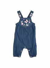 Pumpkin Patch Baby Girls Embroidered Dungarees - Sale
