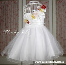 NEW Baby Girls Formal Dress Chiffon Party Dress Communion Flower Girls size 00-8
