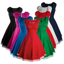 Vintage Style Swing 1950's 1960's Housewife Retro Pinup Rockabilly Evening Dress