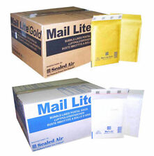 MAIL LITE PADDED ENVELOPES - PADDED BAGS - C/0 - WHITE & GOLD- ALL QUANTITY