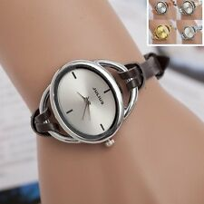 Women's Ladies Dress Leather Bangle Bracelet Analog Dial Quartz Wrist Watches