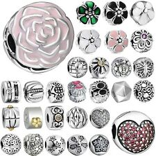 New European clip spacer silver charm bead for bracelet chain charms UK