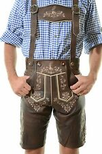 German Bavarian Oktoberfest Lederhosen German Outfit Dark Brown *BERLIN*