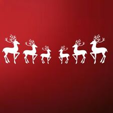 REINDEER WALL STICKER christmas decal window vinyl art shop merry xmas art