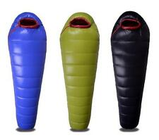 New White Duck Down Mummy Adult Sleeping Bag Waterproof Outdoor Camping 0~-25℃