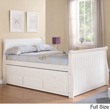 Sleigh Captain's Twin or Full Bed with Trundle and Storage