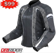 DRIRIDER FEMALE AIRSTREAM MOTORCYCLE JACKET VENTED NEW rrp $269 Female Ladies