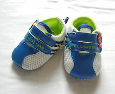 blue little lion boy shoes toddler shoes baby boy shoes UK size2,3