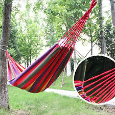 Double/single Hammock Cotton Rope Outdoor Swing Camping Hanging Canvas Bed