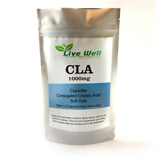 Live Well Conjugated Linoleic Acid-CLA 1000mg Softgel Capsules-Weight Loss.