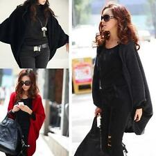 New Batwing Sleeve Cape Poncho Knit Cardigan Sweater Wrap Coat Outwear For Women
