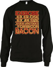 Exercise Eggs Are Sides For Bacon Meat Breakfast Food Funny Long Sleeve Thermal