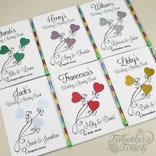 Childrens Personalised Wedding Activity Favour Book Gift Bag Pack Party 3 Heart