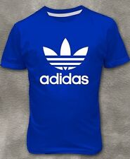 Men's T-shirt Blue short sleeve round neck Tee shirt M L XL 2XL 3XL