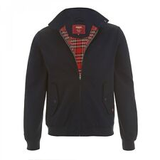 MENS MERC LONDON CLASSIC HARRINGTON JACKET - NAVY BLUE