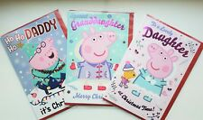 Peppa Pig Christmas Card Son Daughter Sister Brother Nephew Niece