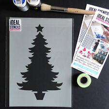 Christmas tree stencil card making art craft window decorating painting Stencils