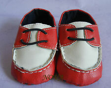 cute Red and white toddler shoes baby infant girl shoes  US size1,2,3