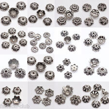 10-200Pcs Tibet Silver Chic Charm Pendant Loose Spacer Bead Caps Jewelry 6-12mm