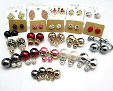 20/50/100Pairs wholesale flower earrings hook stud Mixed design for retail shops