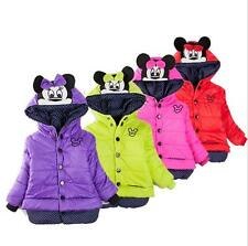 Baby Kids Girls Toddler Minnie Mouse Hoodies Jacket Coat Outerwear SnowSuits New