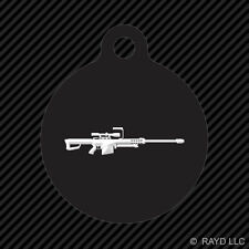Barrett 50 Cal M82A1 Keychain Round with Tab engraved many colors sniper rifle
