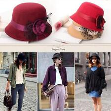Women Hat Wool Derby Bowler Cap Vogue Ladies Vintage Bowler Derby Hats Caps D69