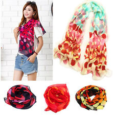 New Fashion Dot Girls Women Long Soft Wrap Lady Shawl Silk Chiffon Scarf Warm