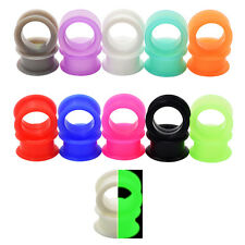 2piece Soft Silicone Flexible Ear Gauge-Ear Plugs Expander-Flesh Tunnels-Eyelets