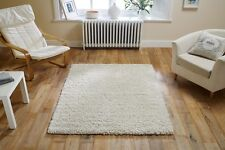 CREAM Plain Easycare Affordable QUALITY Shaggy Rug Hallway Runner XS-Large 30%OF