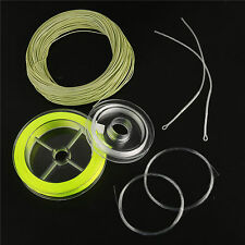 WF2/3/4/5/6/7/8F Fly Line Combo & Backing Tapered Leader Fly Fishing Green/Blue