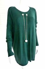 Stunning Laetitia Mem fine knit slouch style top with clever built in necklac...