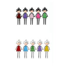 5Pcs Beautiful Girl Figure Pattern Charms Jewelry DIY Craft Making Alloy Pendant