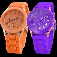 Nice Unisex New Women Geneva Silicone Jelly Gel Quartz Analog Sports Wrist Watch