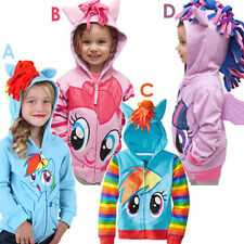Kids Toddler Hoodie Girl My Little Pony Wing Rainbow Sweatshirt Coat Zip Jacket