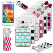 Luxury Clear Bling Block Rhinestone Hard Case Cover For Samsung HTC Smart Phone