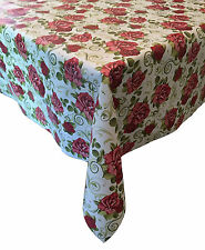 Waterproof Fabric Kitchen Tablecloth English Roses  VINYL OILCLOTH, 1.3m x 2m