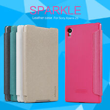 NILLKIN Sparkle Matte Flip PU Leather Phone Case Cover Holder For Sony Xperia Z5