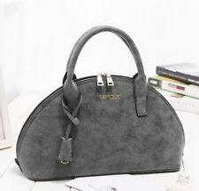 Fashion Dull Polish Shoulder Bags Hobo Autumn  Style Shell Shape Solid Ladies