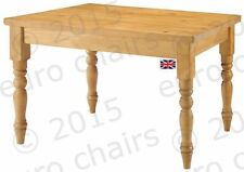 PAINTED PINE DINING TABLE   WAXED PINE TABLE   PINE FARMHOUSE TABLE   MADE IN UK