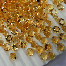 1mm to 3mm Calibrated Natural Yellow Citrine Round Cut VS Quality Loose Gemstone