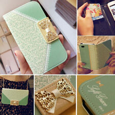 Fashion Fresh Wallet Flip Card Holder Leather Stand Case Cover For iphone Series