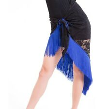 Latin Performance Belly Dance Tribal Tassel Hip Scarf wrap Belt Skirt Fringe S30