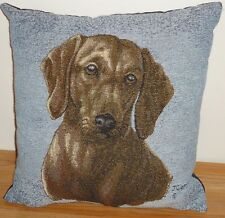 """DACHSHUND Tapestry Decorative Throw Pillow 15"""" x 15"""" Doxie"""