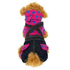 Pink Star Pet Small Dog Denim/Jeans Jumpsuit Overalls Clothes Apparel Sweater