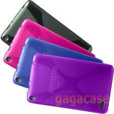 Amazon Kindle Fire 7 Inch 2015 Model TPU Gel Protective Case Skin Cover