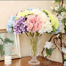 Artificial Hydrangea Silk Flowers Leaf Bouquet Wedding Bridal Party Home Decor