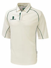 Surridge Premier Shirt 3/4 Sleeve Senior Sports Training Cricket Polo Shirts UK